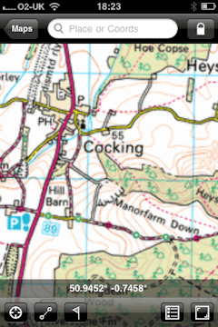 Best iphone ipad apps for walkers and hikers matt hopkins this was the first gps mapping app i tried after google maps and i used to be really impressed the ordnance survey os maps do not come with the app gumiabroncs Gallery