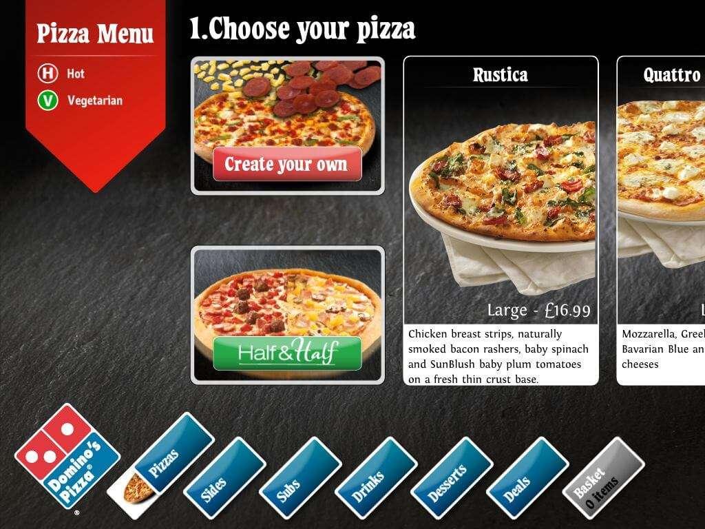 Dominos Pizza Ipad App Matt Hopkins