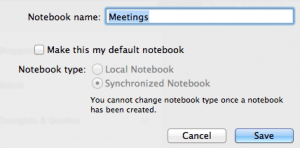 Evernote - set the default notebook