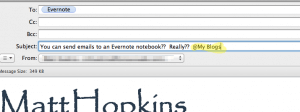 Evernote - add notebook name