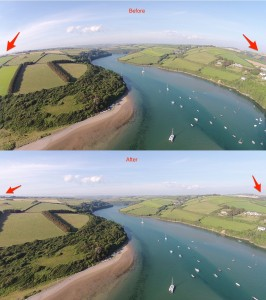 Correct Lens Distortion DJI Phantom Vision Plus