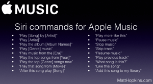 Full List of Siri Commands for Apple Music