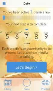 Mindfulness Daily screen