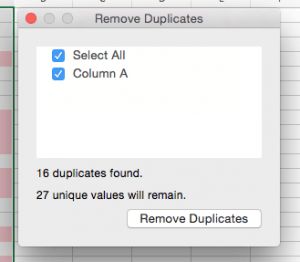 Remove Duplicates in Excel